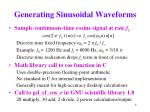 generating sinusoidal waveforms