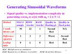 generating sinusoidal waveforms8