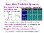 linear gain model for quantizer36
