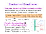 multicarrier equalization