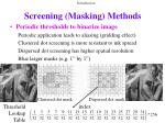 screening masking methods