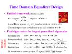 time domain equalizer design19