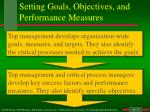 setting goals objectives and performance measures
