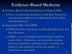 evidence based medicine18