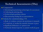technical assessments tas34