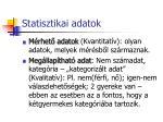 statisztikai adatok
