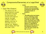 components elementary of a legal brief
