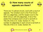 q how many courts of appeals are there