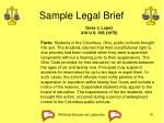 sample legal brief