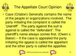 the appellate court opinion