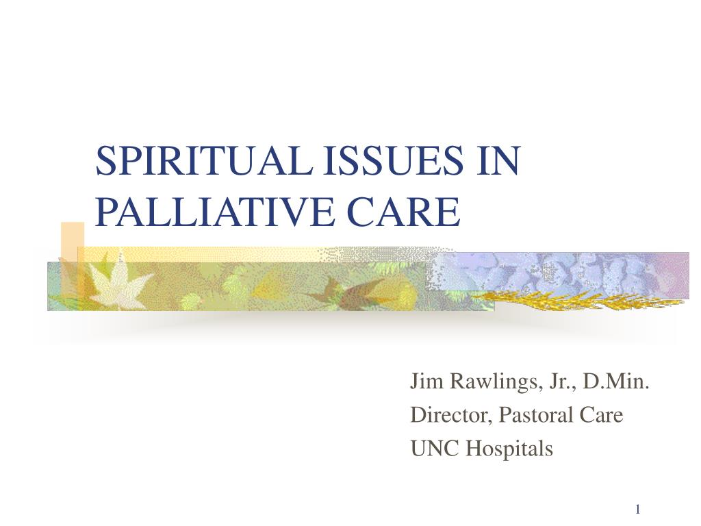 spiritual issues in palliative care l.