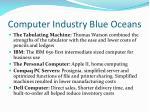 computer industry blue oceans