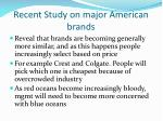 recent study on major american brands