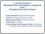 council funded meaningful work day supports leading full lives throughout all of utah projects33