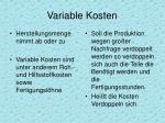 variable kosten