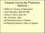 fauquier county ag production statistics