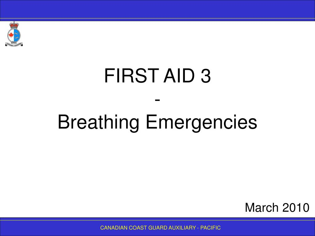 first aid 3 breathing emergencies