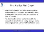 first aid for flail chest