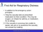 first aid for respiratory distress20