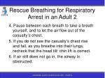 rescue breathing for respiratory arrest in an adult 2