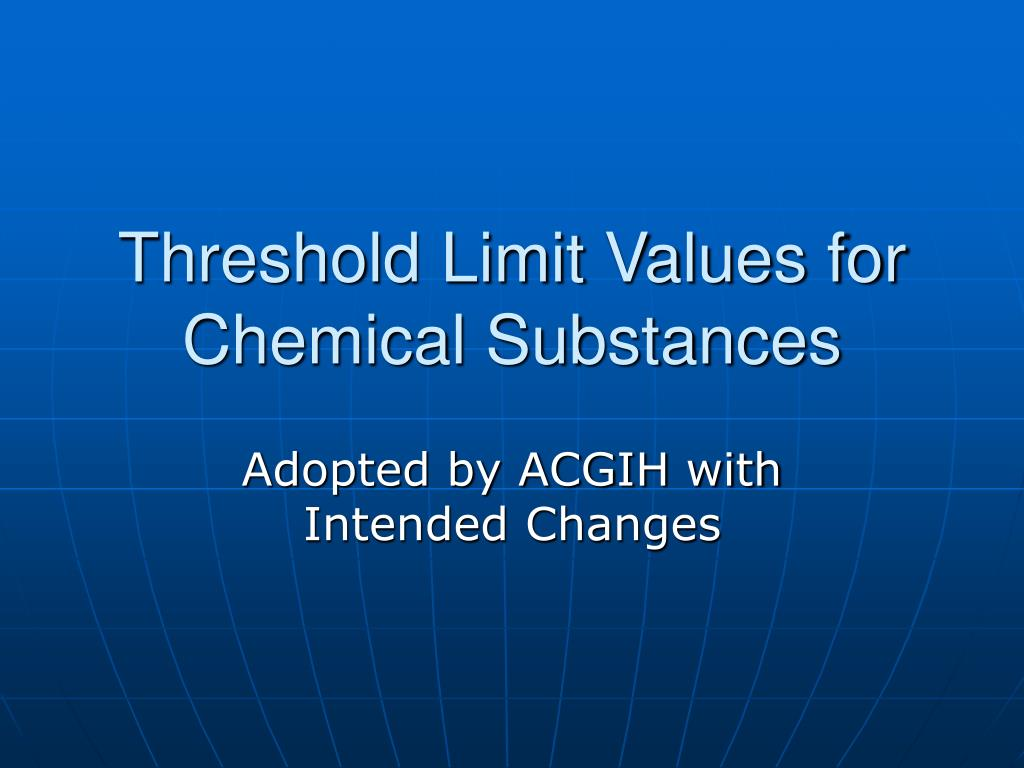 threshold limit values for chemical substances l.