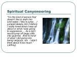 spiritual canyoneering
