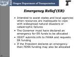 emergency relief er