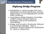highway bridge program