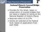 national historic covered bridge preservation