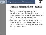 project management state