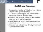 rail grade crossing