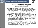 state vs local projects loose generalization