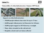 vulnerability of critical infrastructure summer 2007 floods
