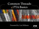 common threads of pta basics