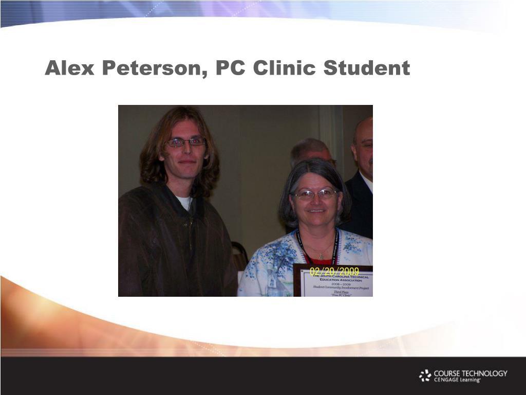 Alex Peterson, PC Clinic Student