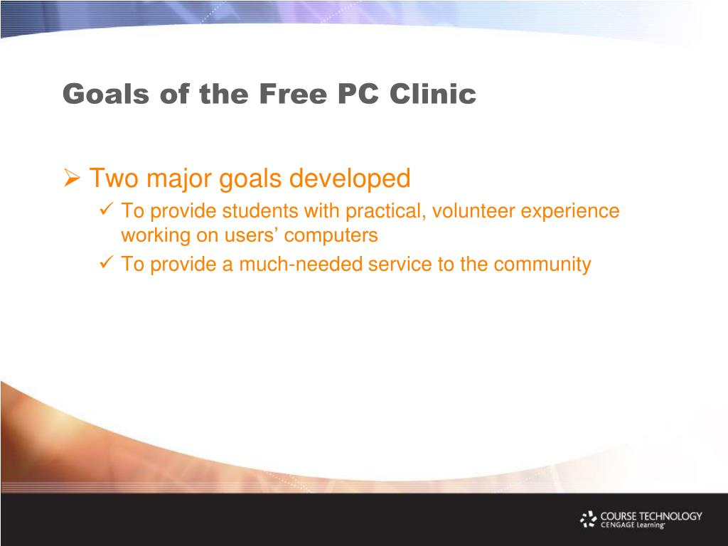 Goals of the Free PC Clinic