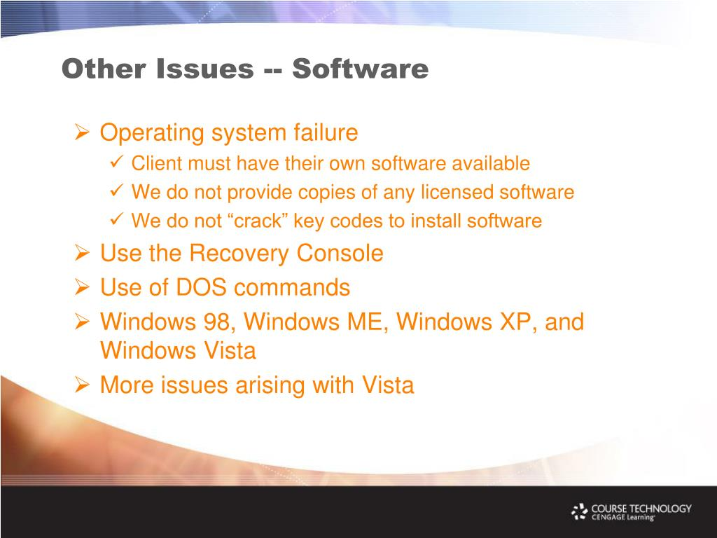 Other Issues -- Software
