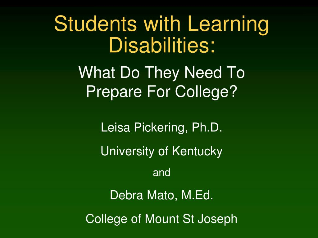 students with learning disabilities l.