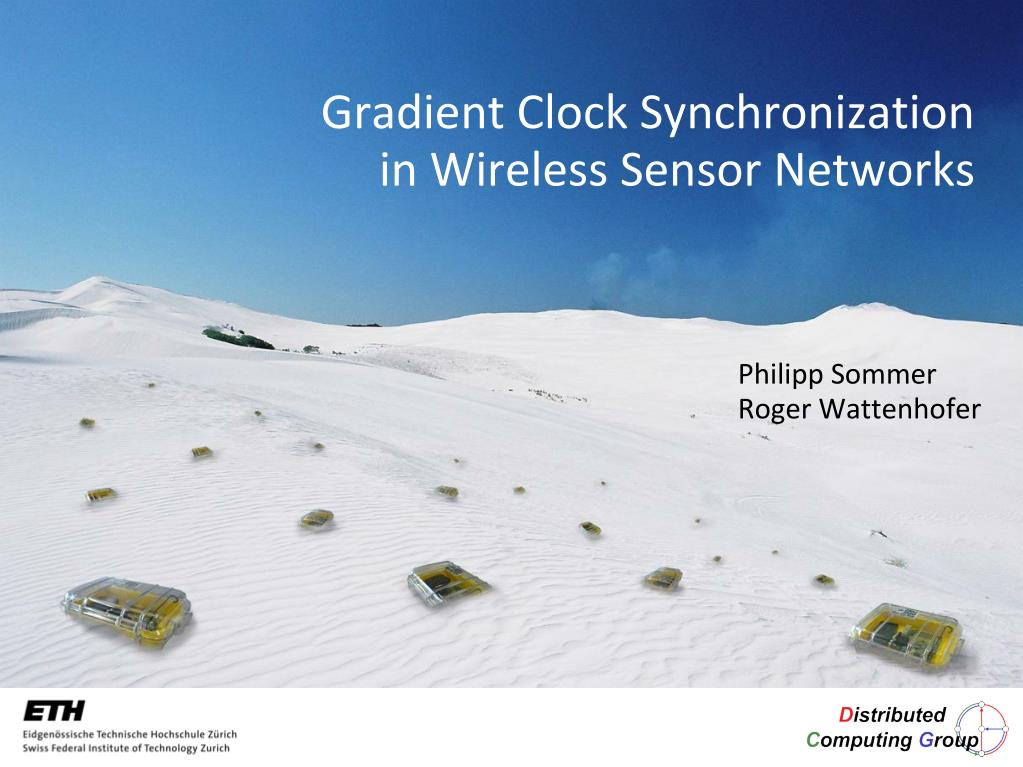 gradient clock synchronization in wireless sensor networks l.