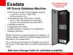 exadata hp oracle database machine
