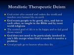 moralistic therapeutic deism