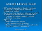 carnegie libraries project