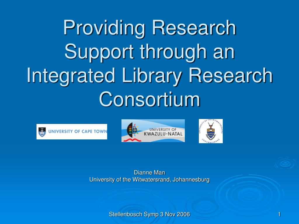 providing research support through an integrated library research consortium l.
