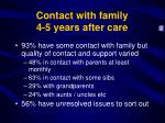 contact with family 4 5 years after care