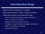 introduction stage