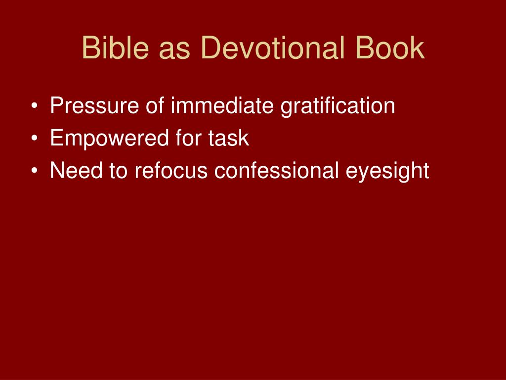 Bible as Devotional Book