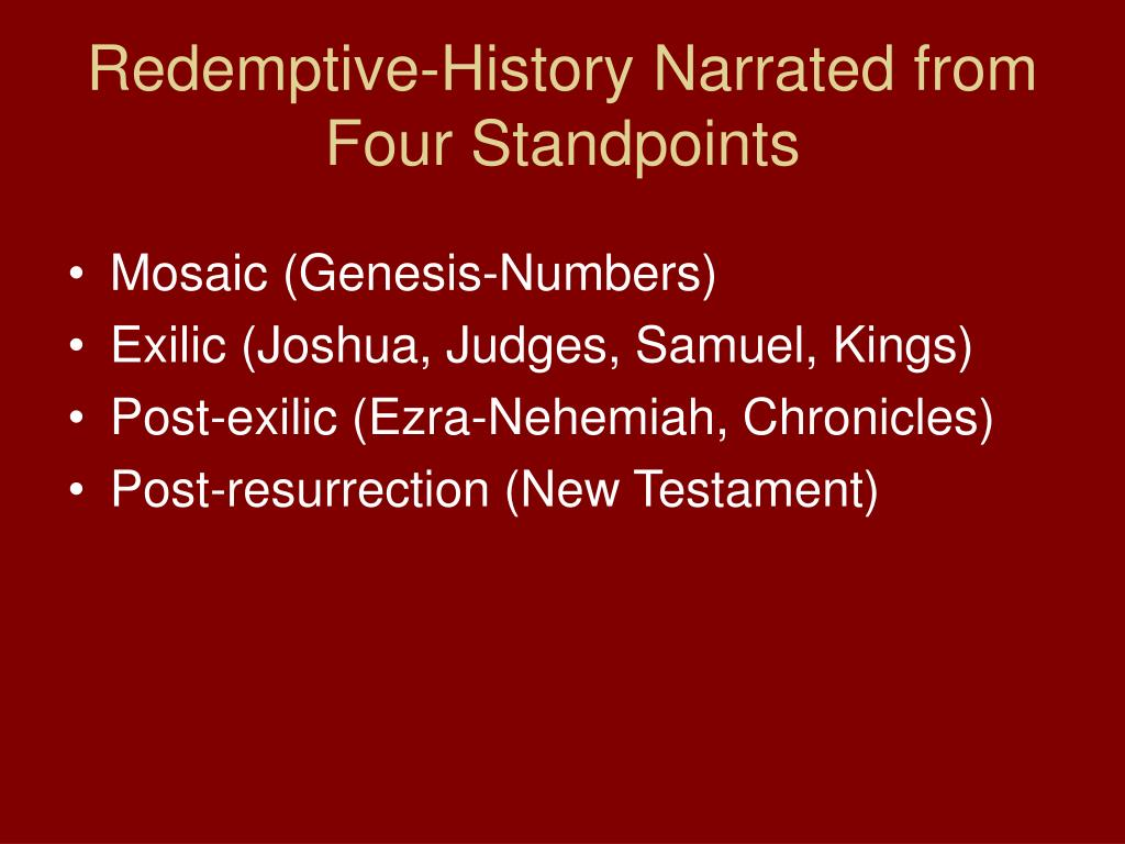 Redemptive-History Narrated from Four Standpoints