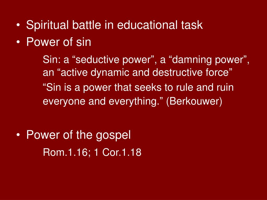 Spiritual battle in educational task