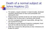 death of a normal subject at johns hopkins 2