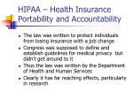 hipaa health insurance portability and accountability